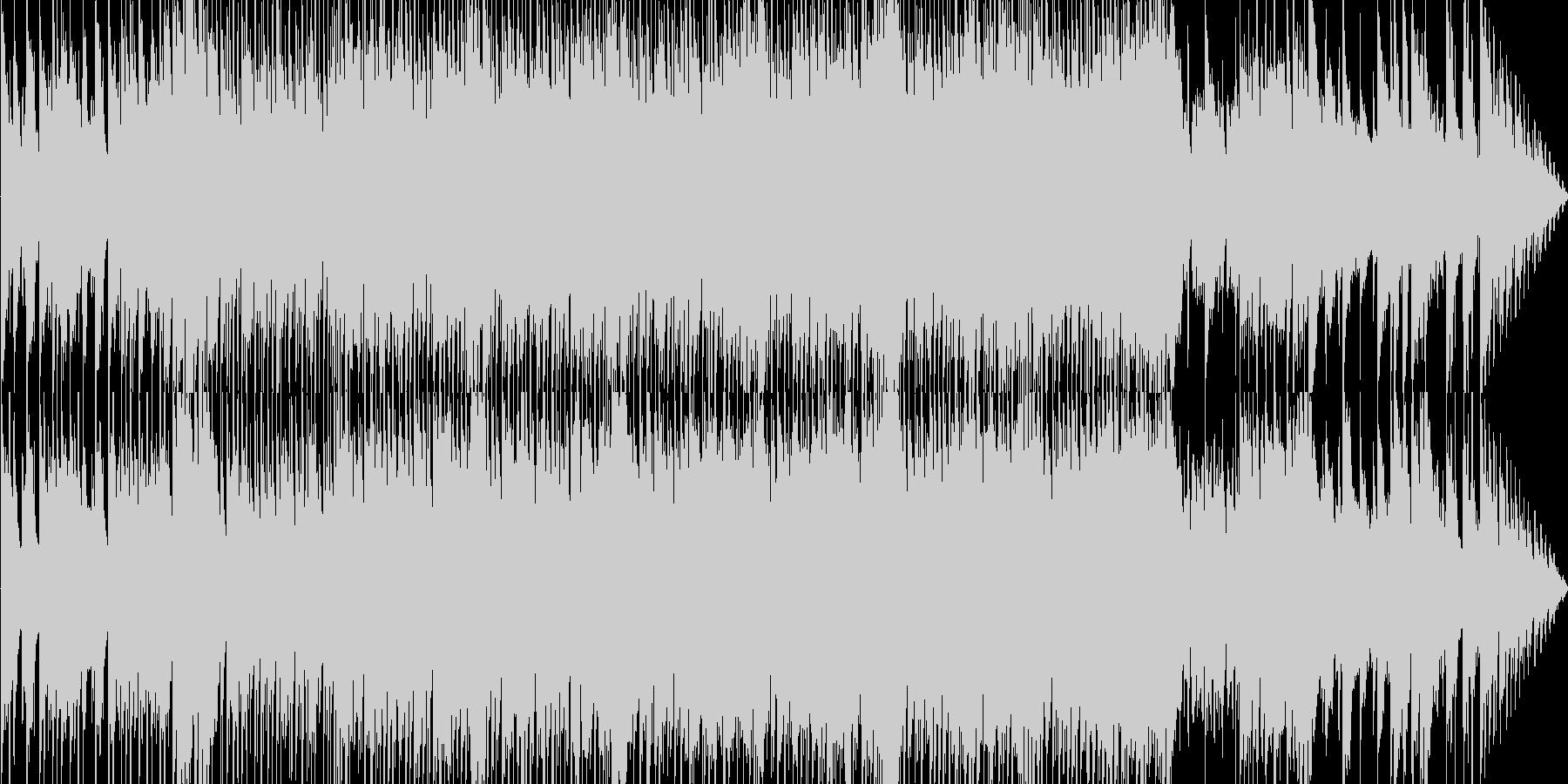 進行感のある冬曲の未再生の波形