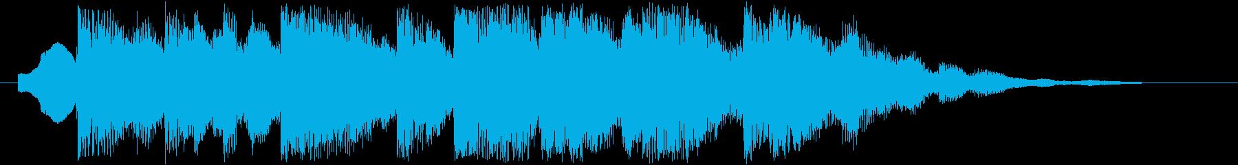 夜空のイメージ(ジングル、着信音などに)の再生済みの波形