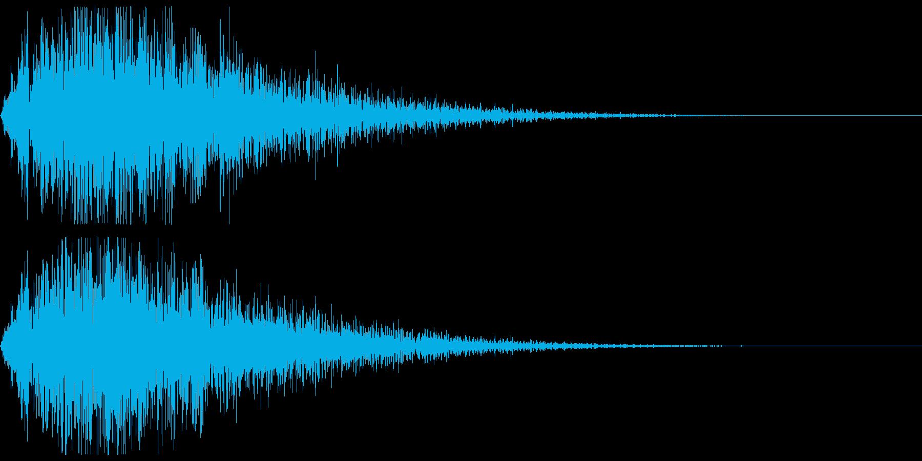 雷【反響部分のみ】の再生済みの波形