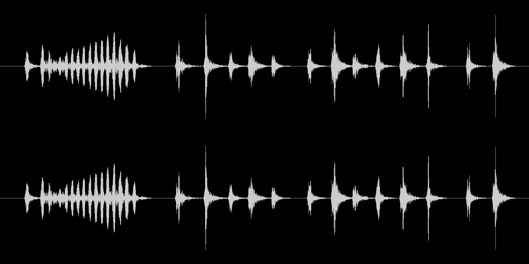 ピッ、ピルルルルル_うぐいすの鳴き声の未再生の波形
