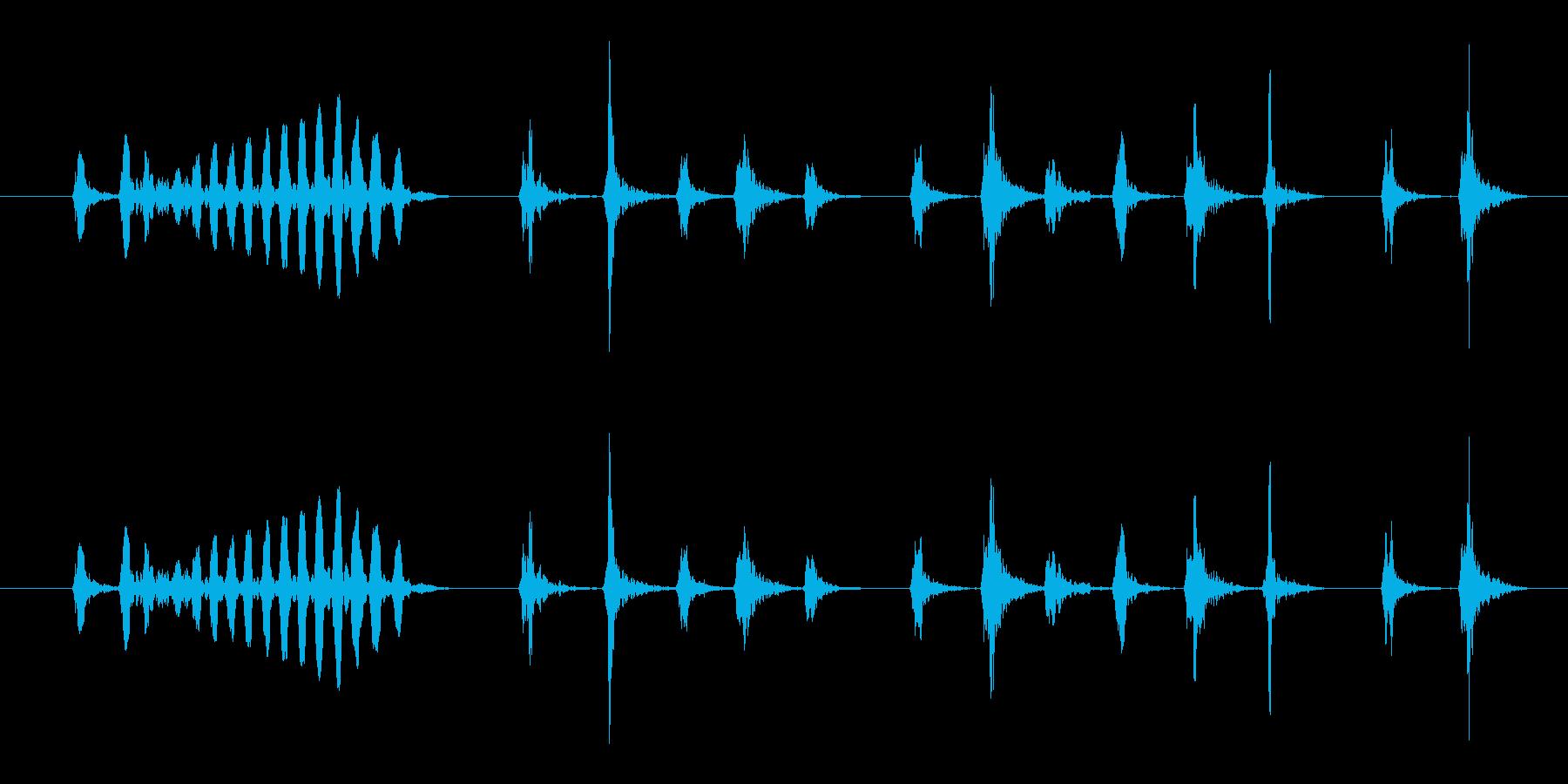ピッ、ピルルルルル_うぐいすの鳴き声の再生済みの波形
