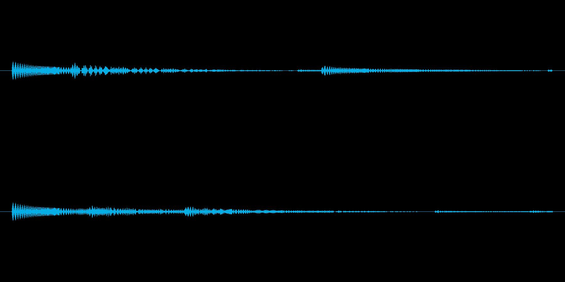 効果音【水中】の再生済みの波形