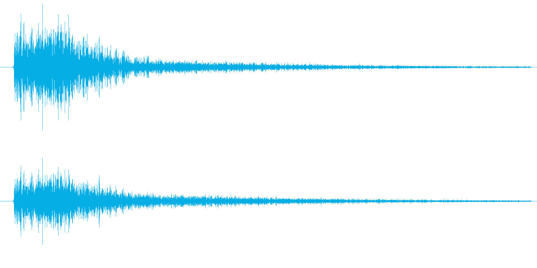 ズバッ、という刃物で斬りつける音ですの再生済みの波形