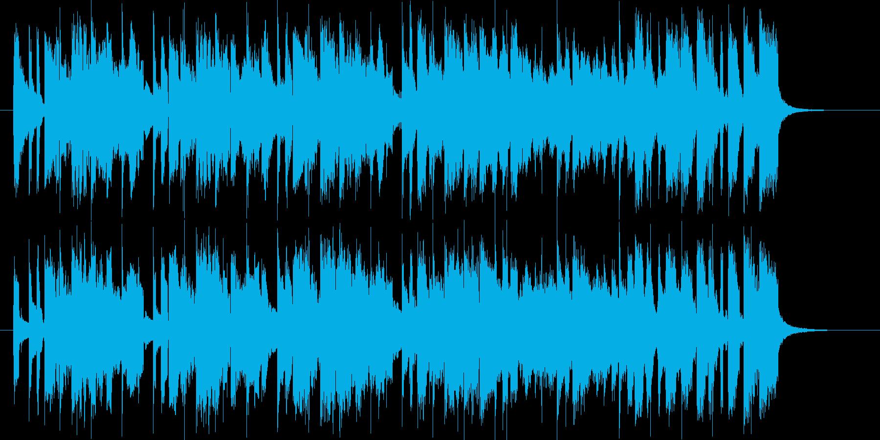 軽快で爽やかなバンドのポップスのジングルの再生済みの波形
