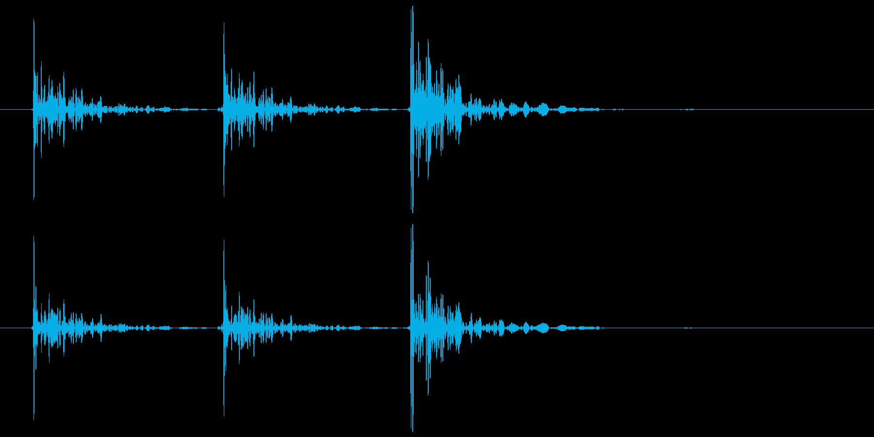 恐怖シリーズ7.ノック音(木製3回)の再生済みの波形