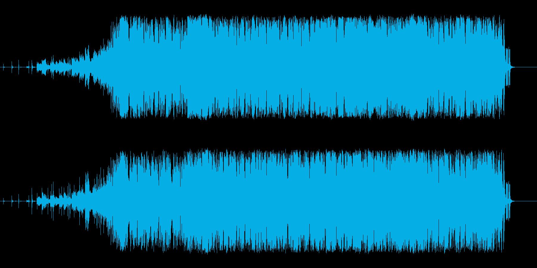 機械的で怪しげな雰囲気から攻めるピアノの再生済みの波形