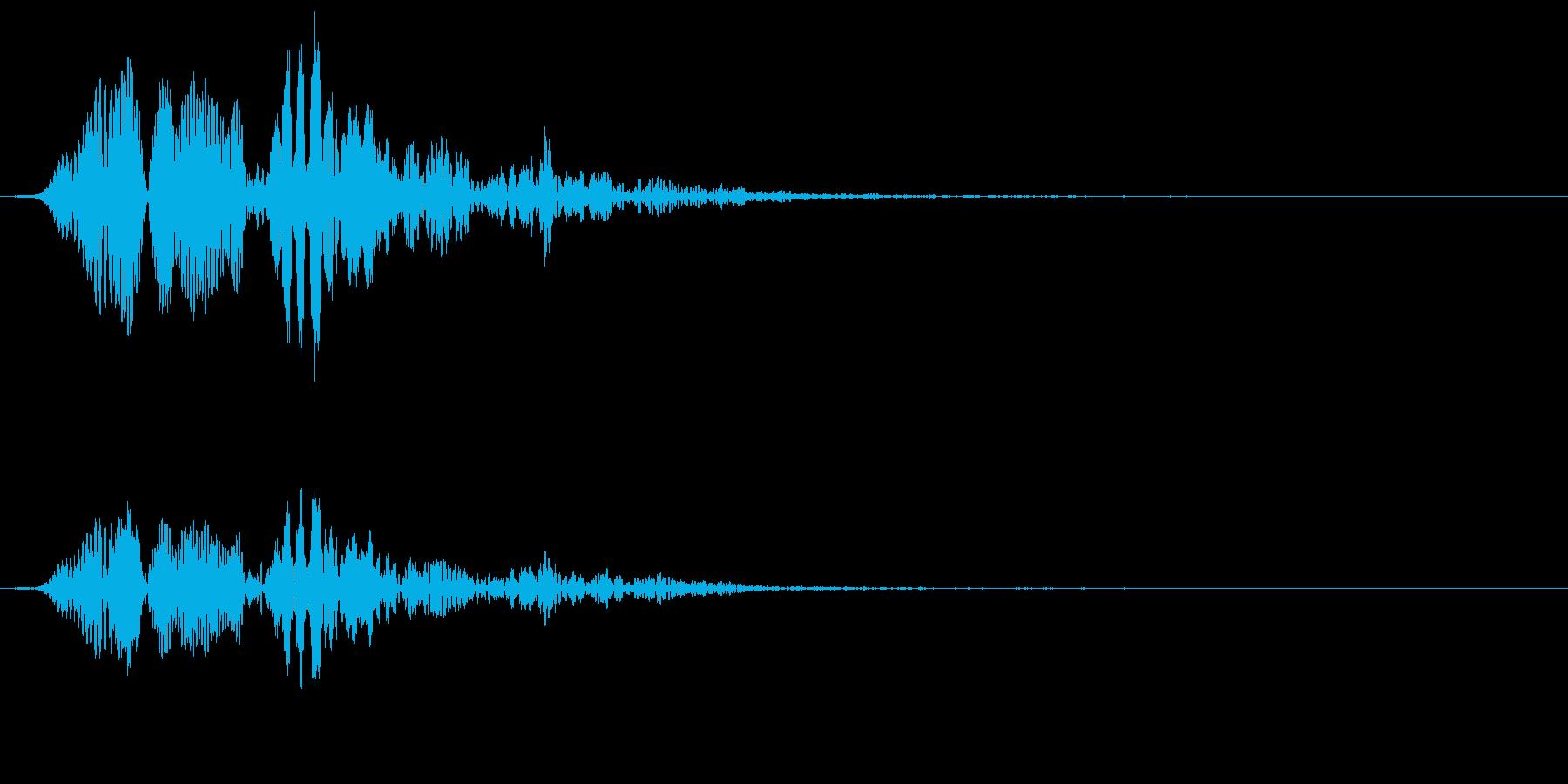 ポヨヨーンの再生済みの波形