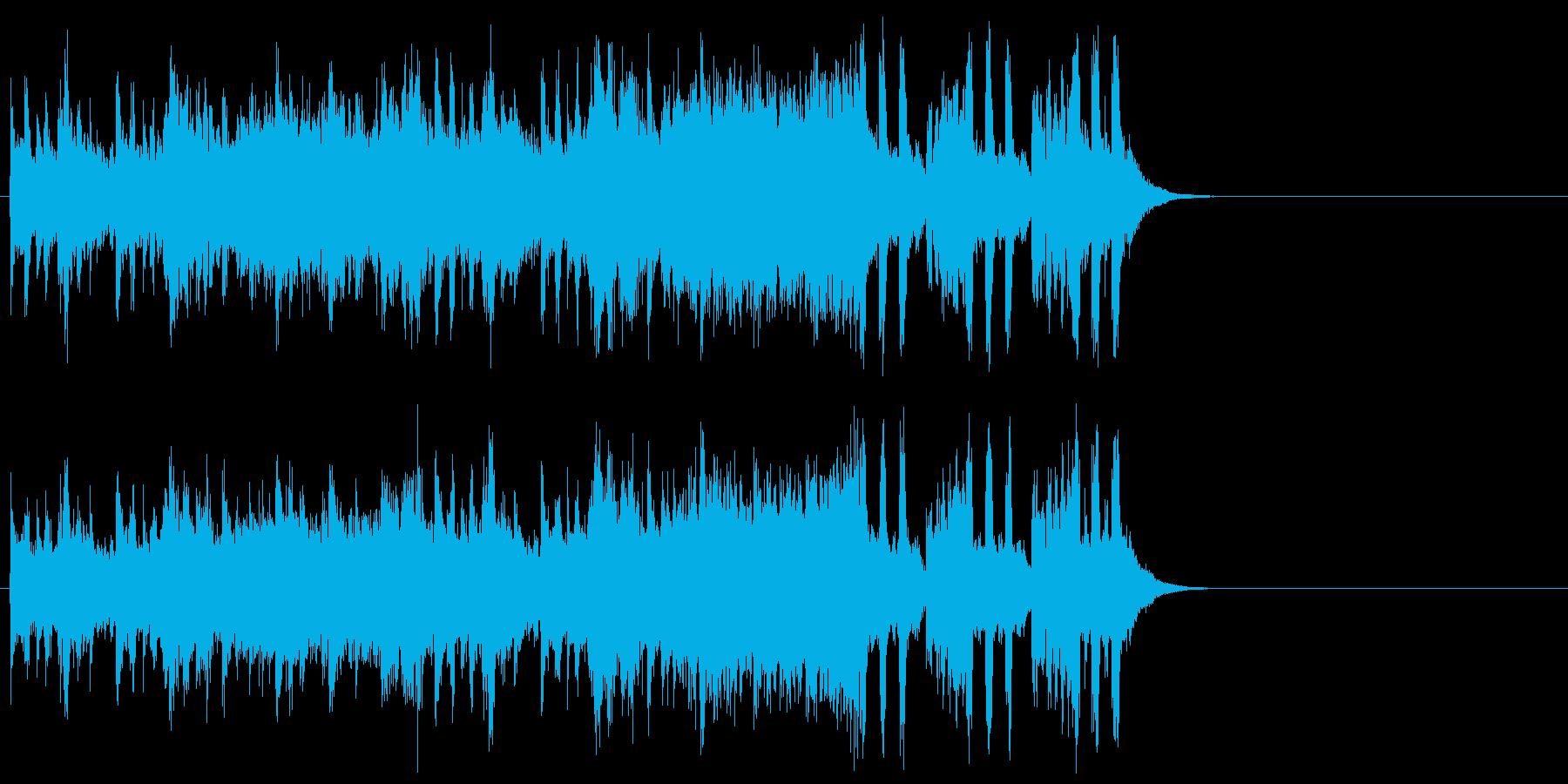 ゆったりしたエンディング(サビ)の再生済みの波形