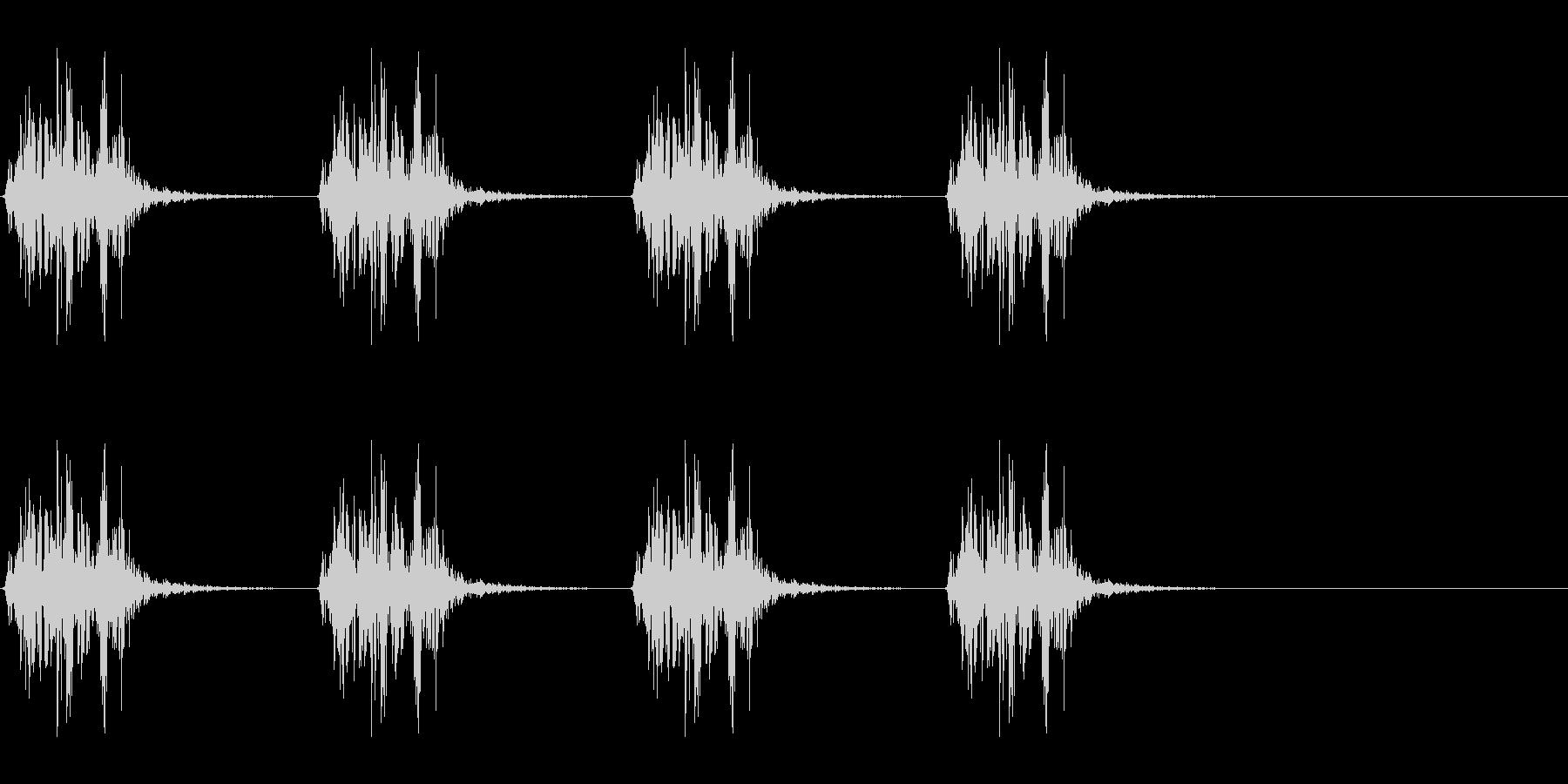 ボコボコ…ボコボコ… 水中での呼吸音の未再生の波形