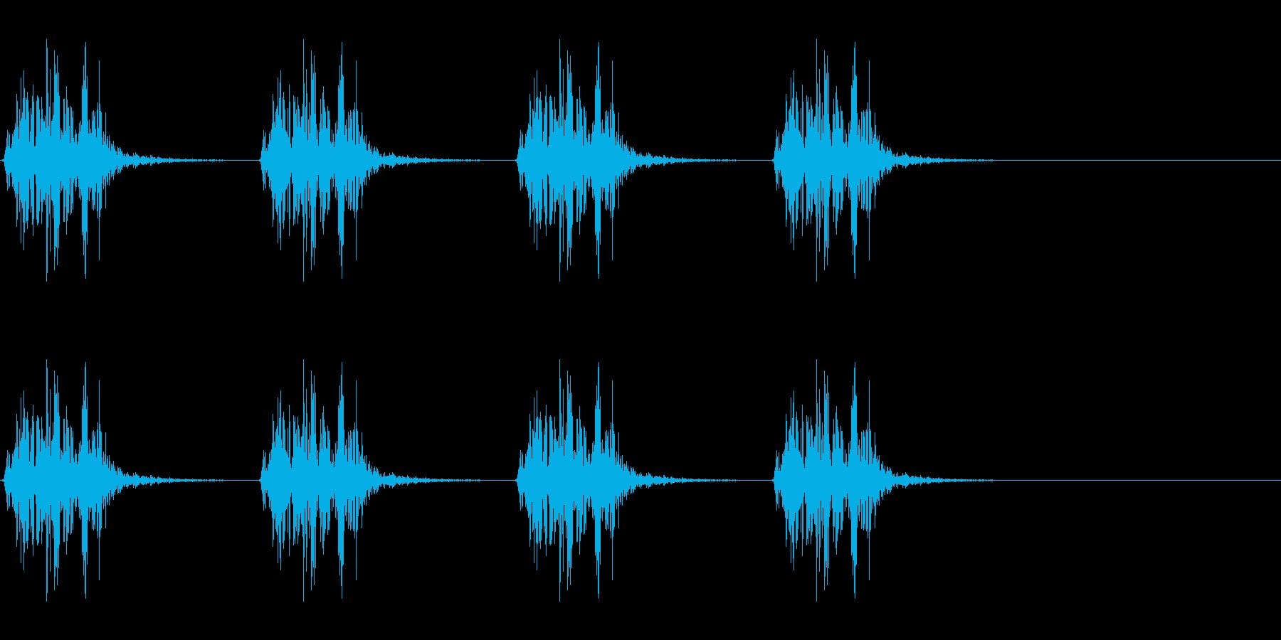 ボコボコ…ボコボコ… 水中での呼吸音の再生済みの波形