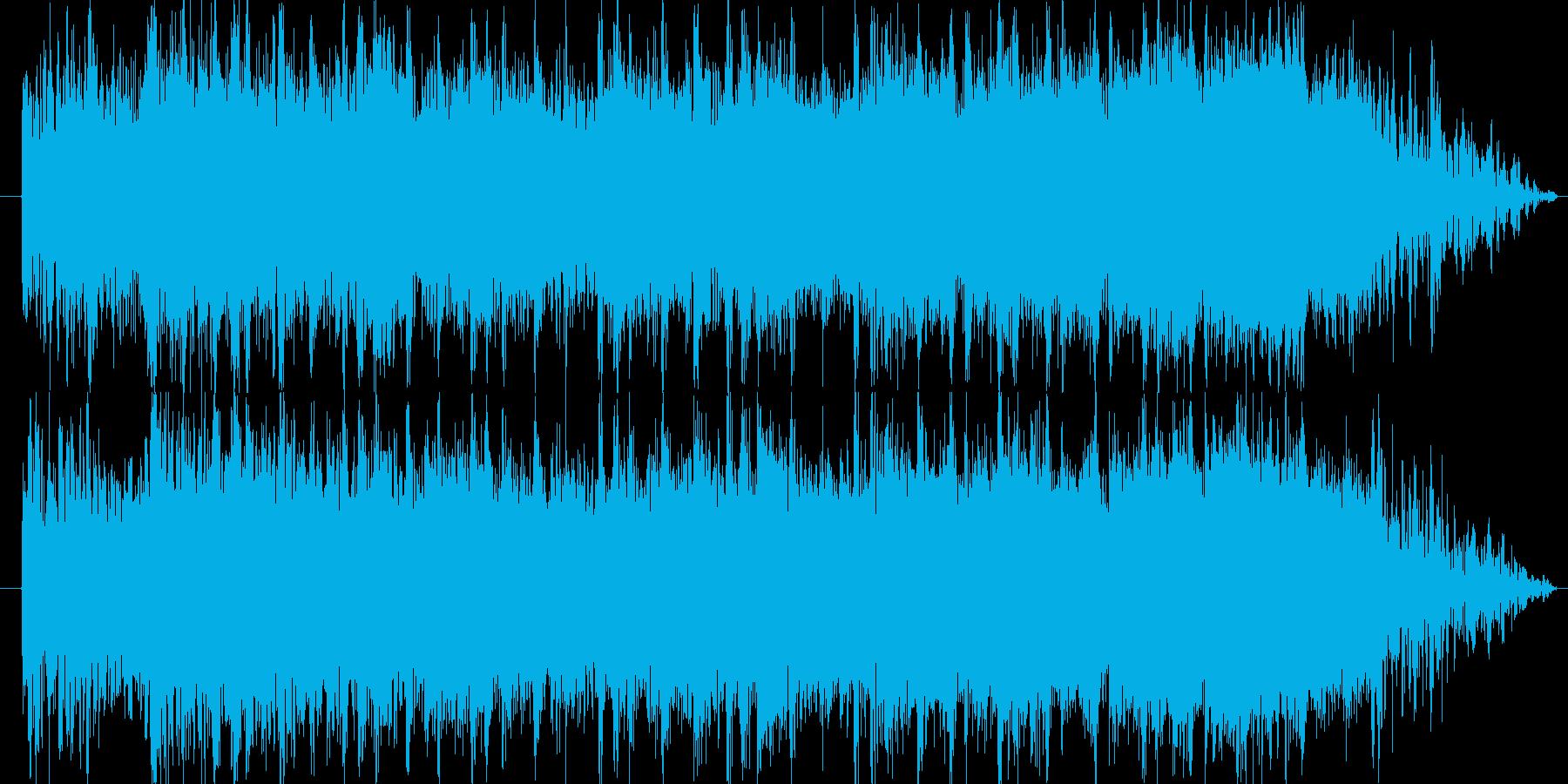 ロック系ビートを基調にした登場系ジングルの再生済みの波形