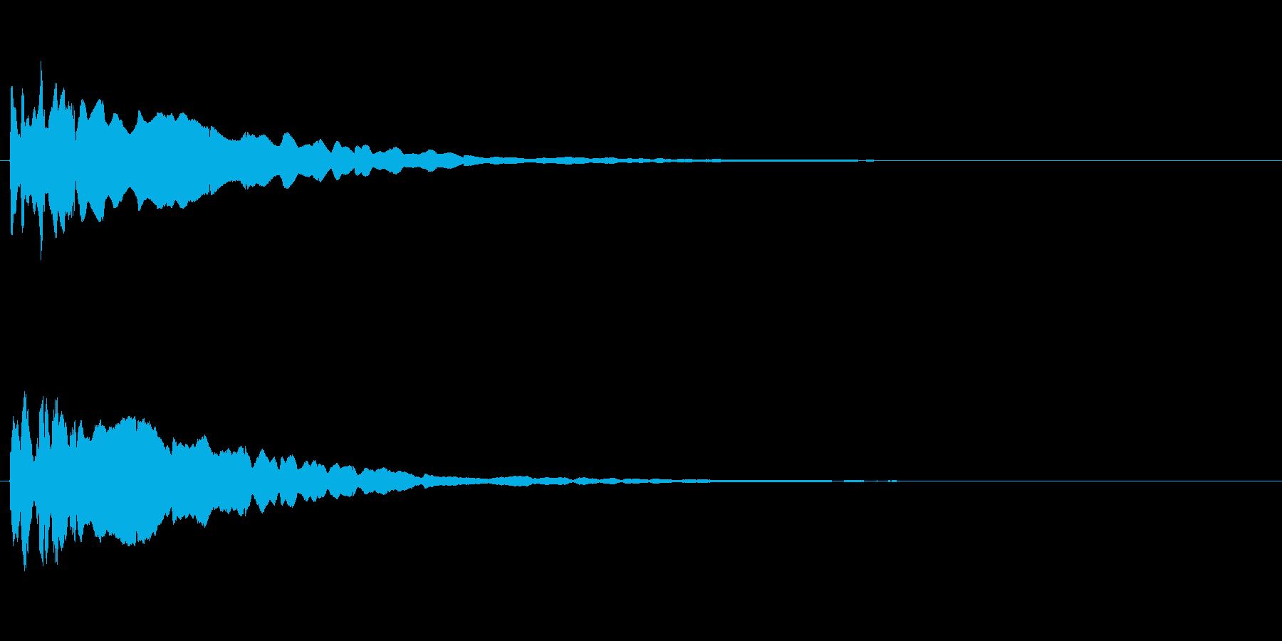 キュイン! アタック音3の再生済みの波形