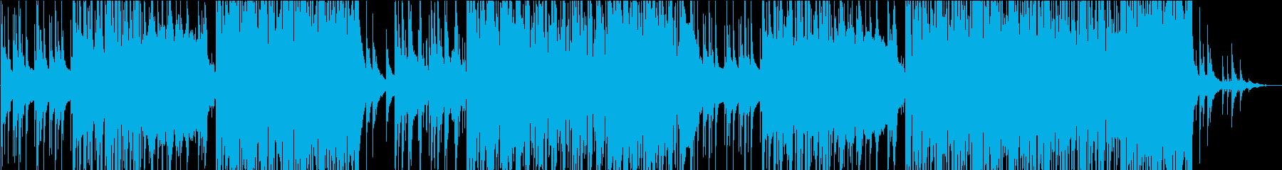 静かなピアノのFuture Bassの再生済みの波形