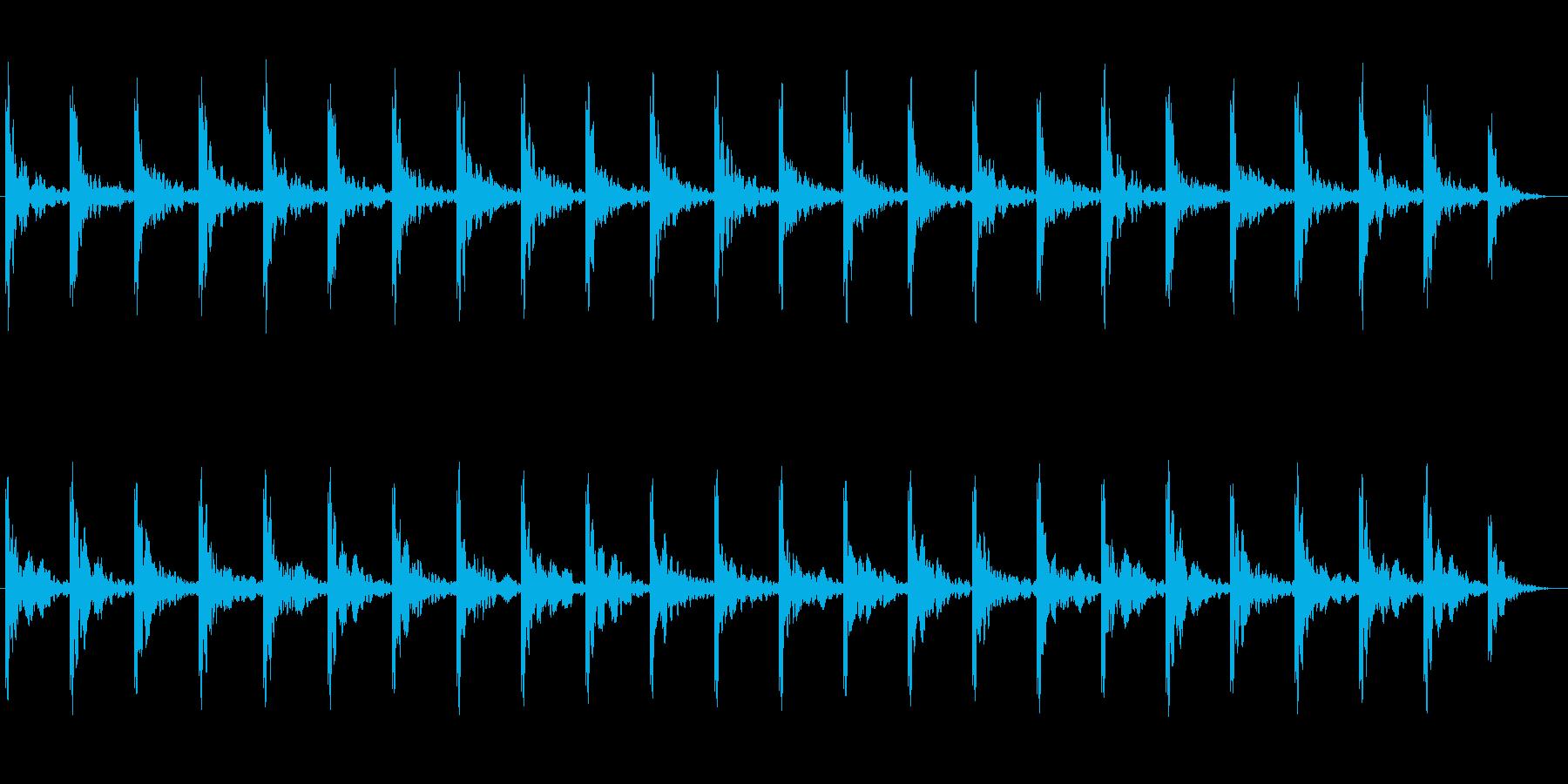 潜水艦 ソナー 探信音の再生済みの波形