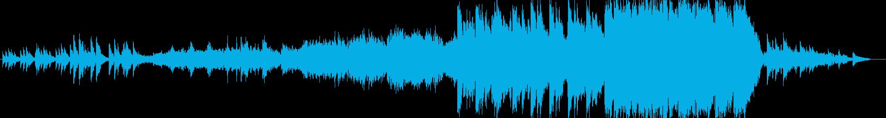 ピアノなどによる壮大で羽ばたくような曲の再生済みの波形