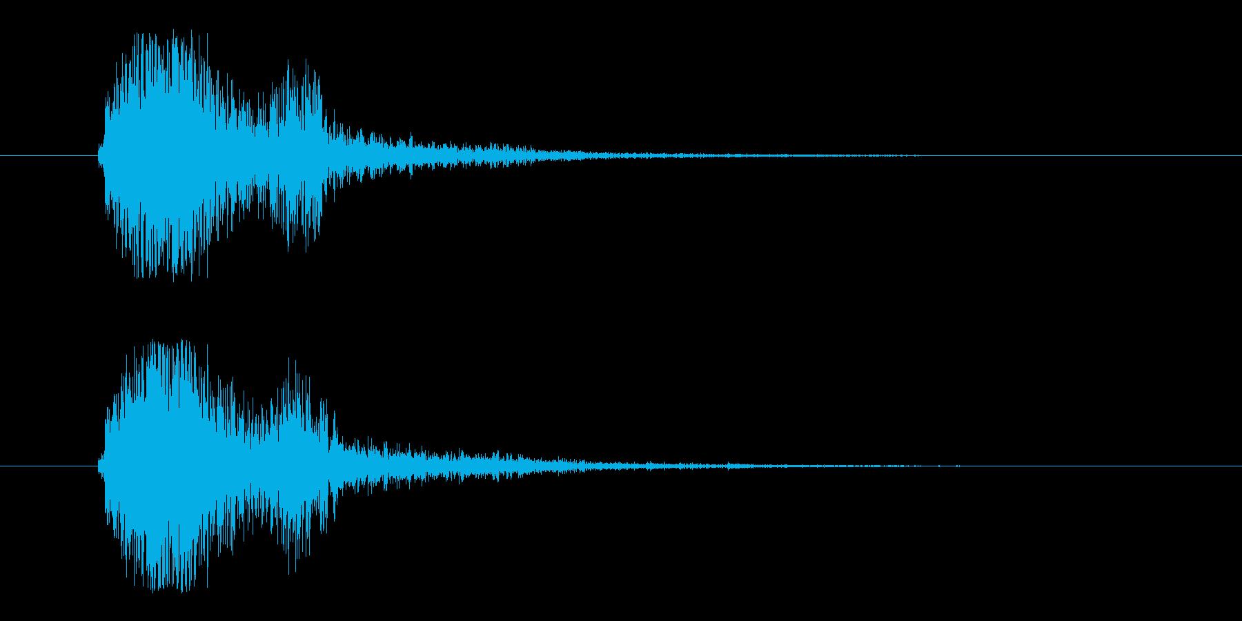 FX・SE/ガン/銃/ブローバック/バンの再生済みの波形