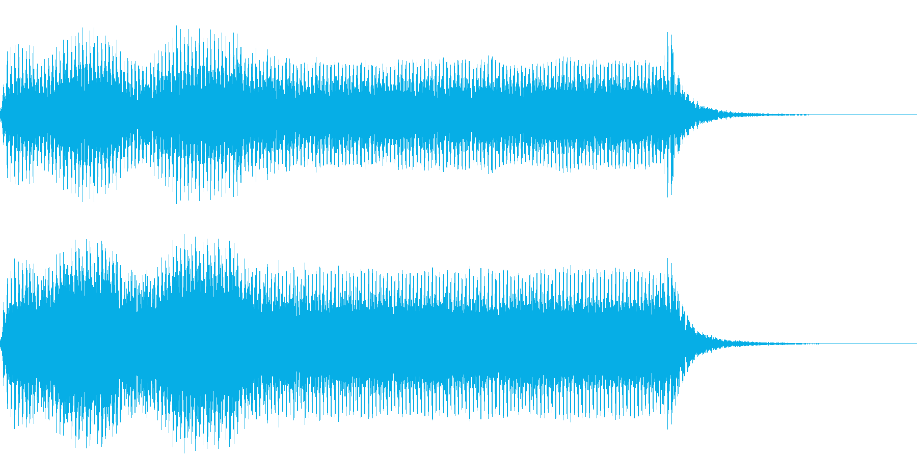 車のクラクションの再生済みの波形