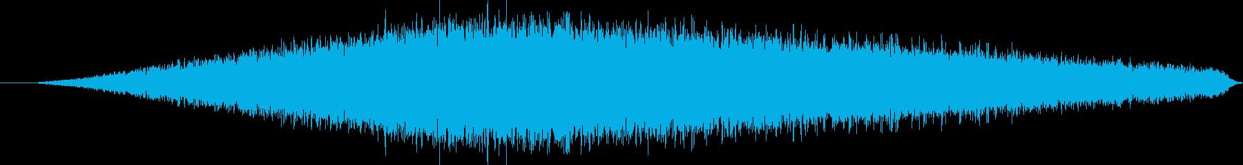 バシャー(濡れた道を車が走る音)の再生済みの波形
