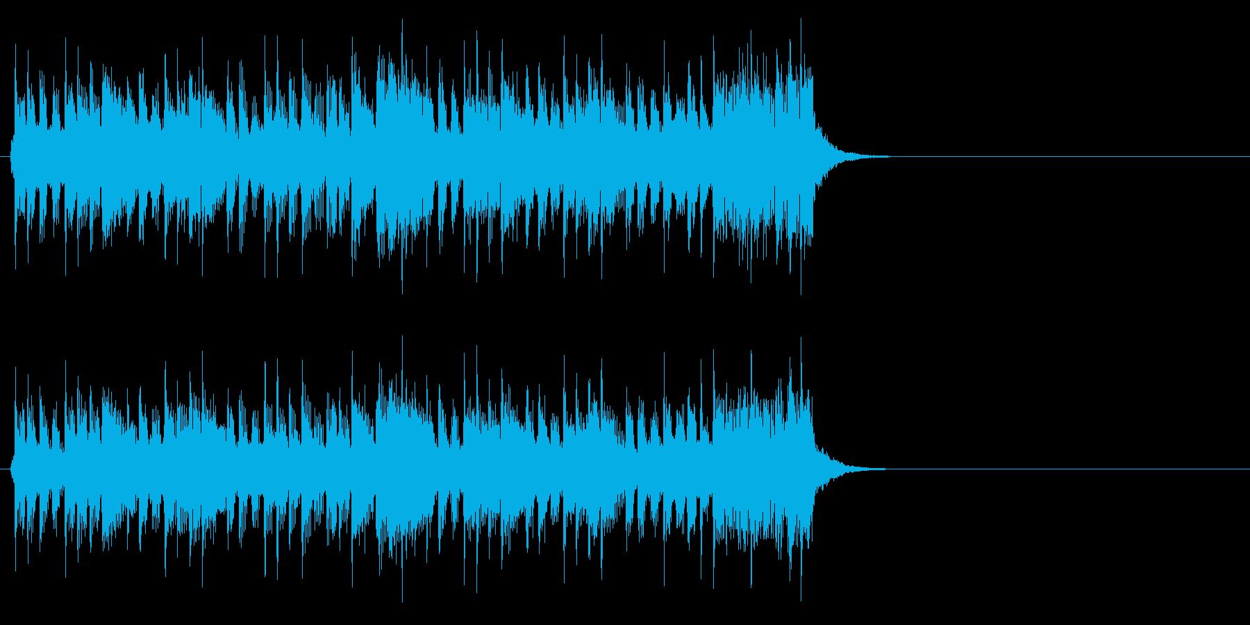 爽快に疾走するポップ(イントロ)の再生済みの波形