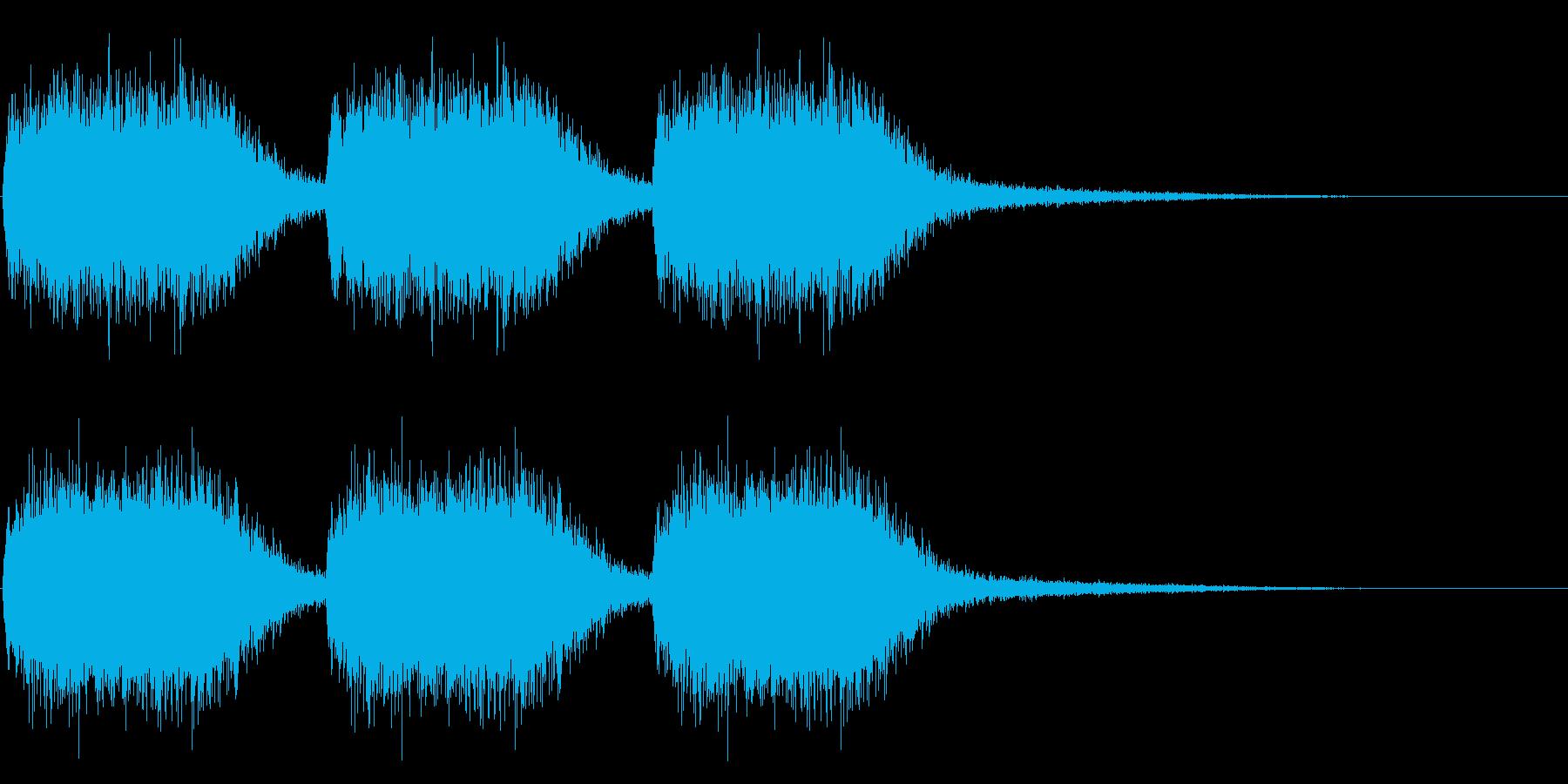 注意、警告音、警報の効果音です!07の再生済みの波形