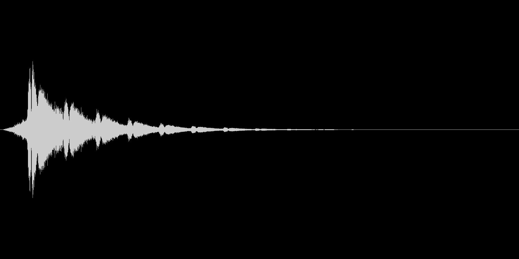 スワイプ音、スライド音シリーズの未再生の波形