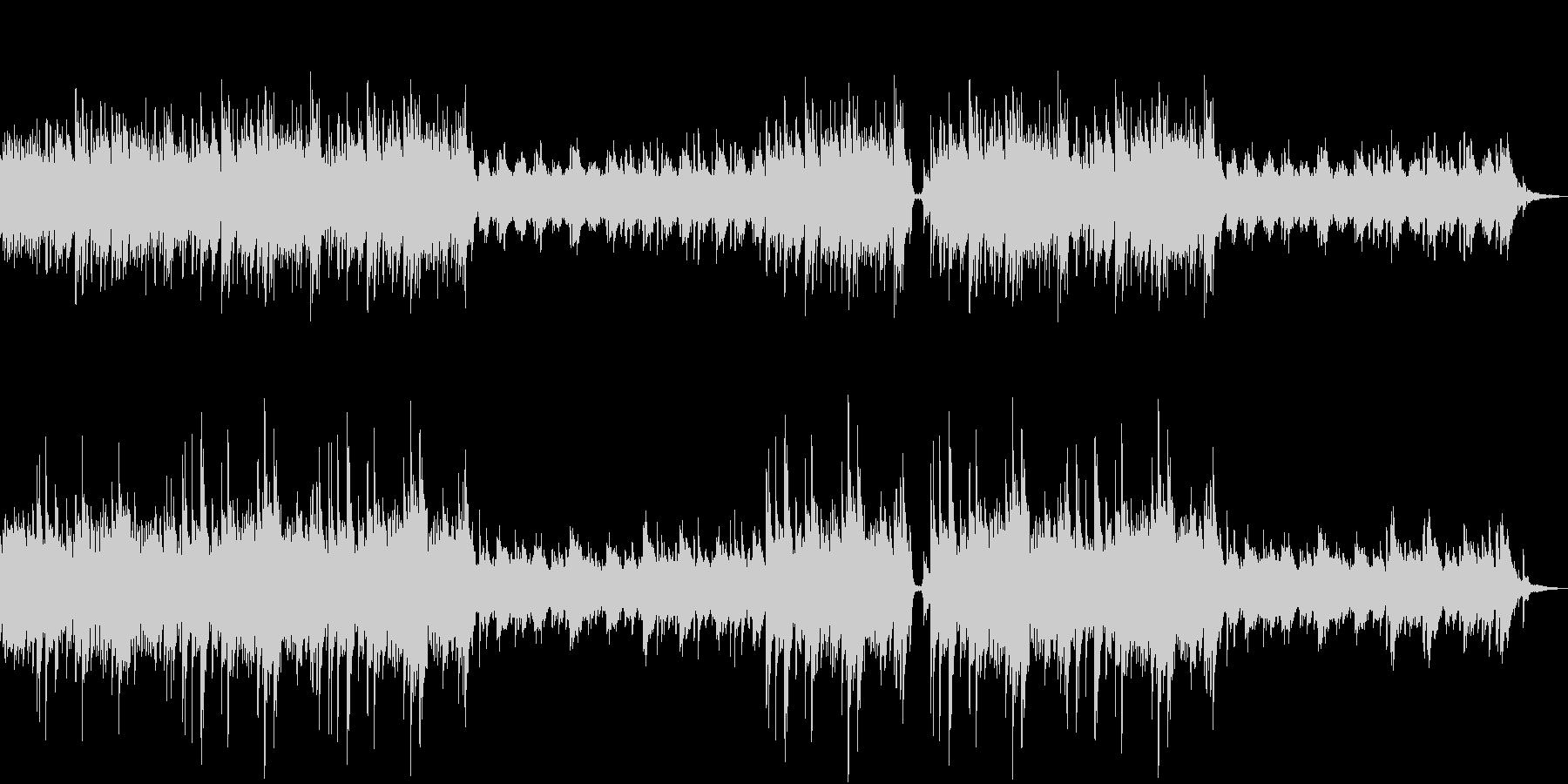 ピアノと弦楽器の静かなエレクトロニカの未再生の波形