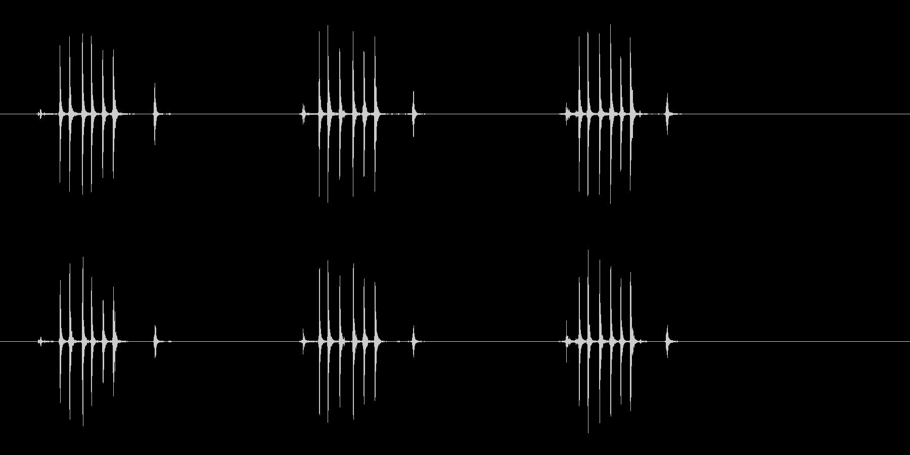 【生録音】ぜんまいを巻く(3回-早め)の未再生の波形