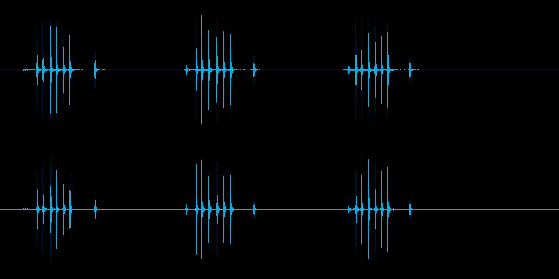【生録音】ぜんまいを巻く(3回-早め)の再生済みの波形