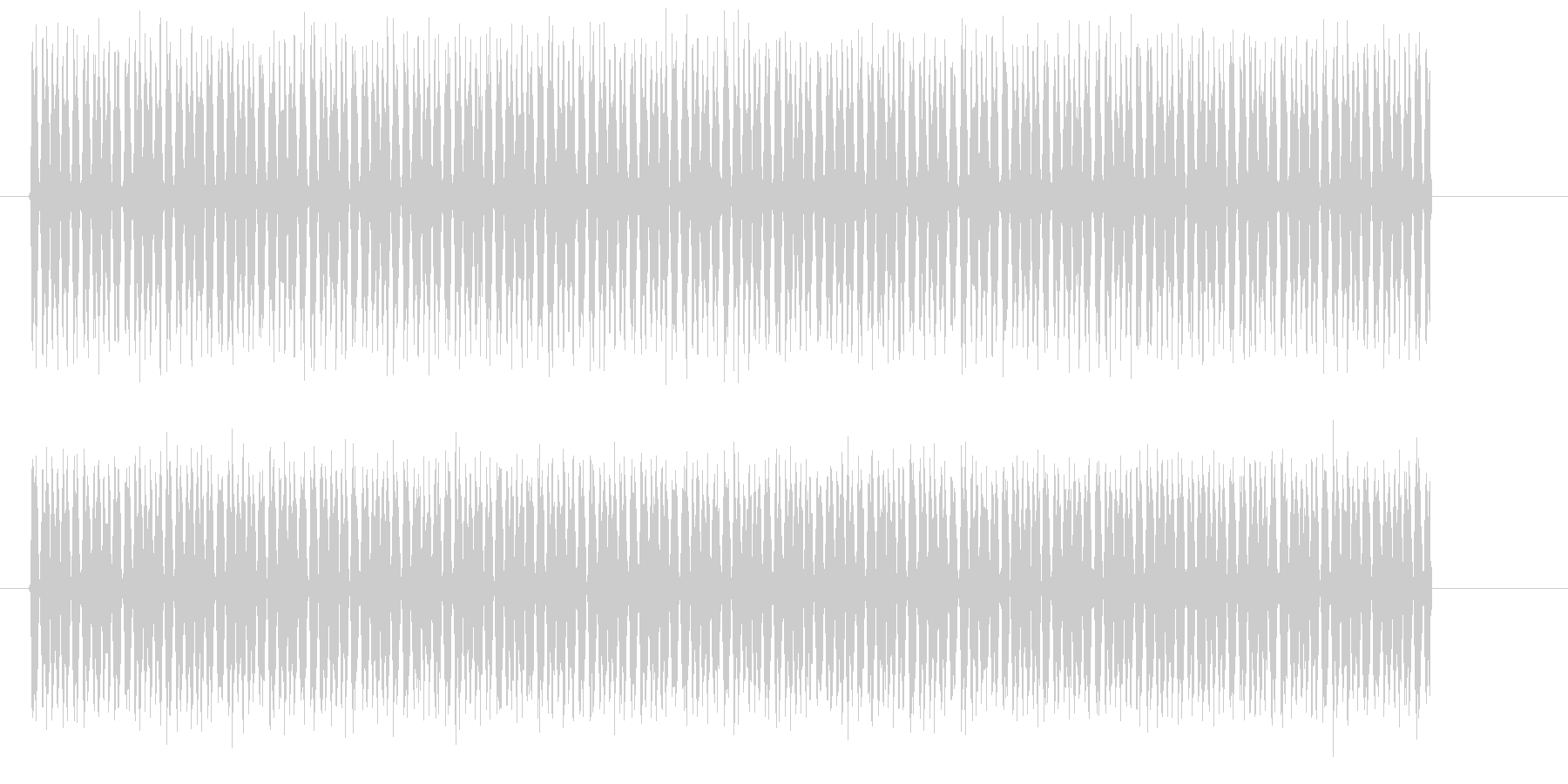 ピョンピョンピョンピョン(高音の電子音)の未再生の波形