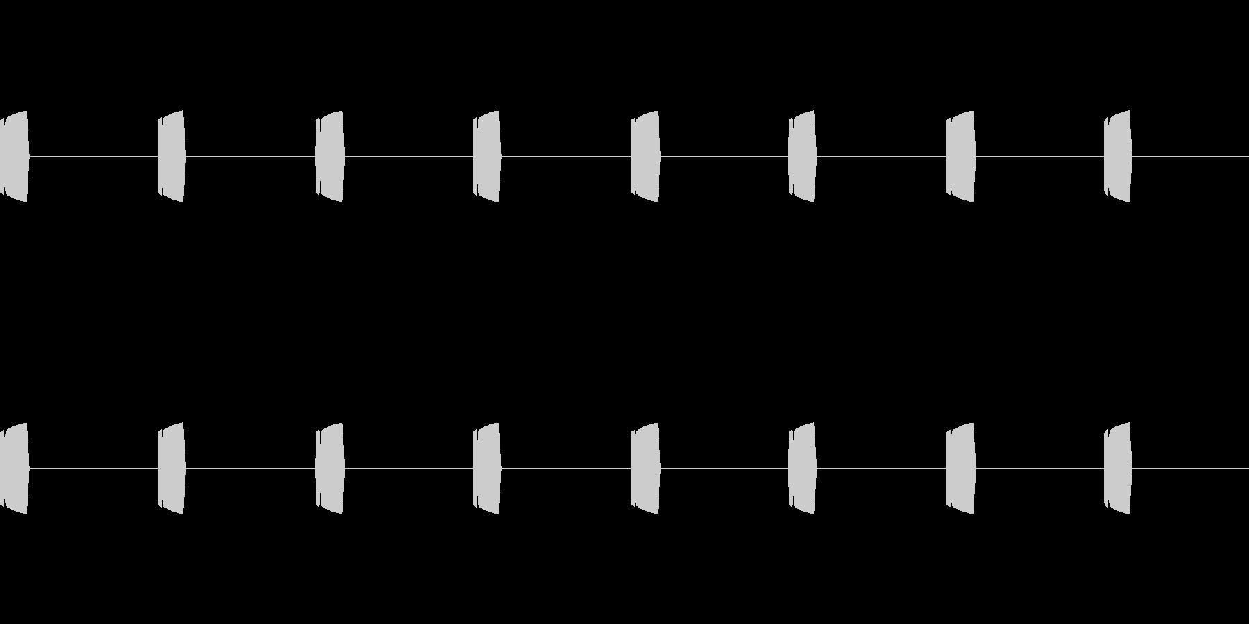 ポヨポヨ(可愛い足音)の未再生の波形