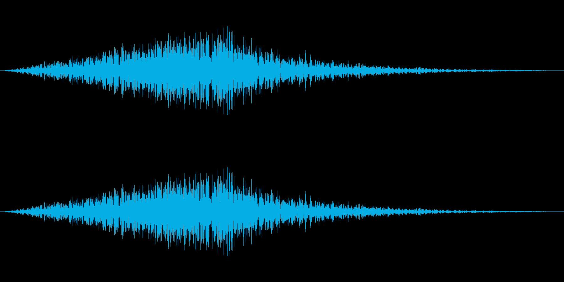 風音02(ピュー/短い系)の再生済みの波形