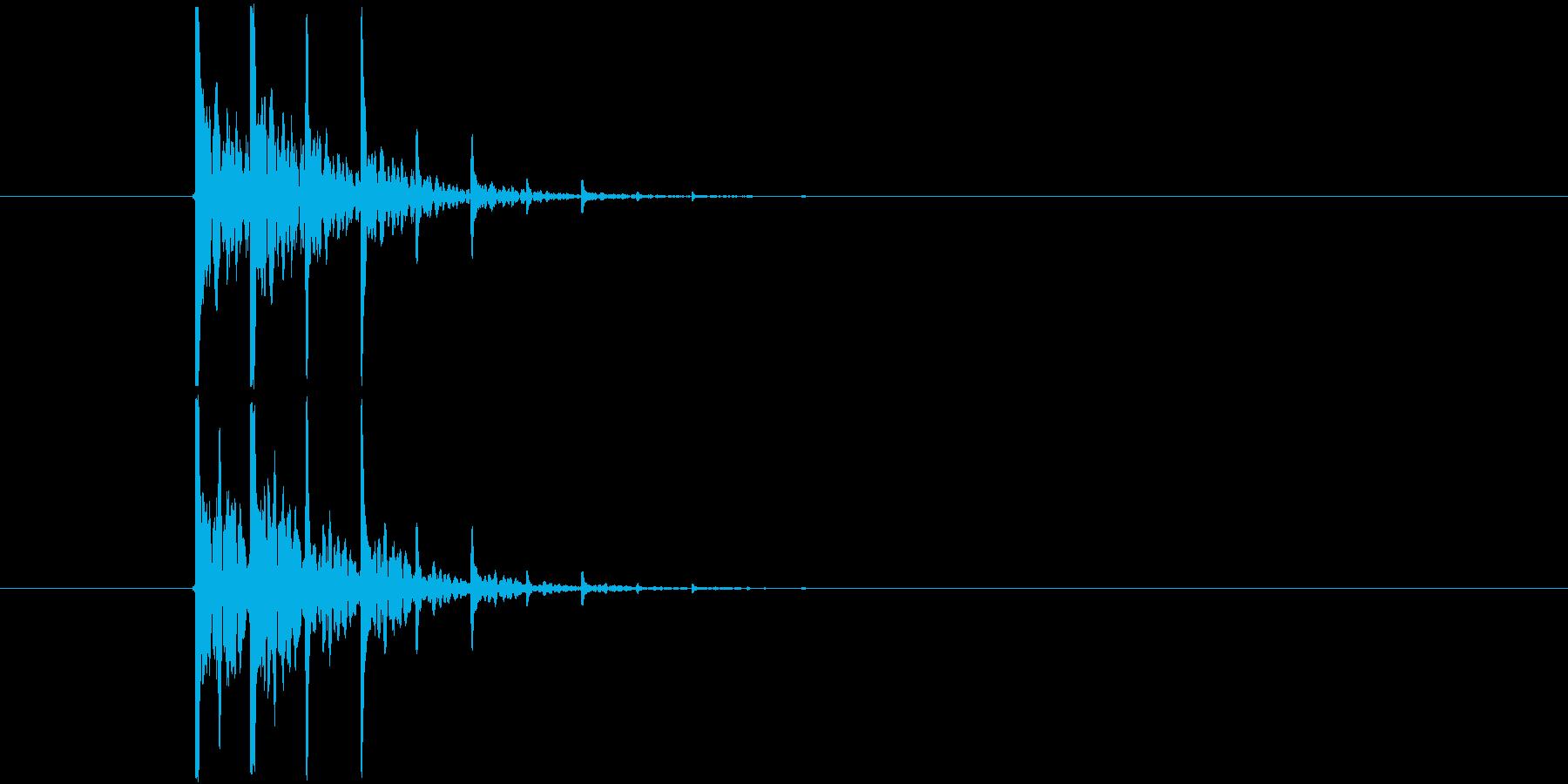Synthで作成した「拍子木」です。本…の再生済みの波形
