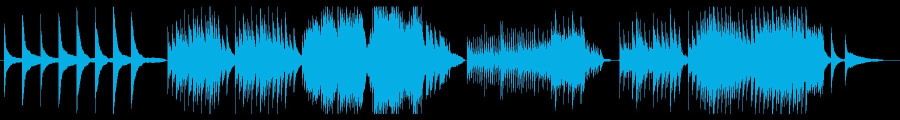 劇伴風 哀しいシーン用の静かなピアノ曲の再生済みの波形