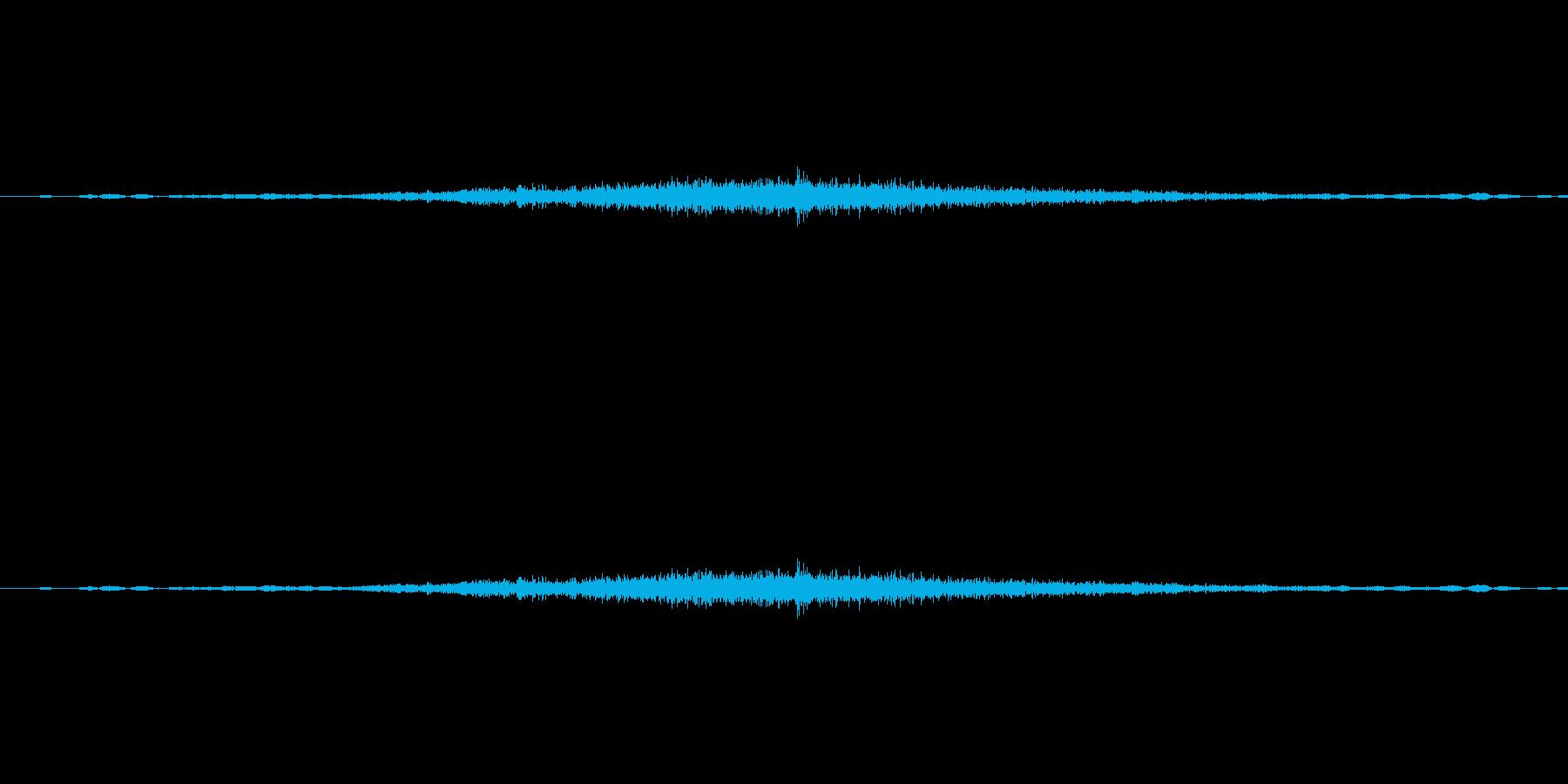 カーテンを開けた時の音ですの再生済みの波形