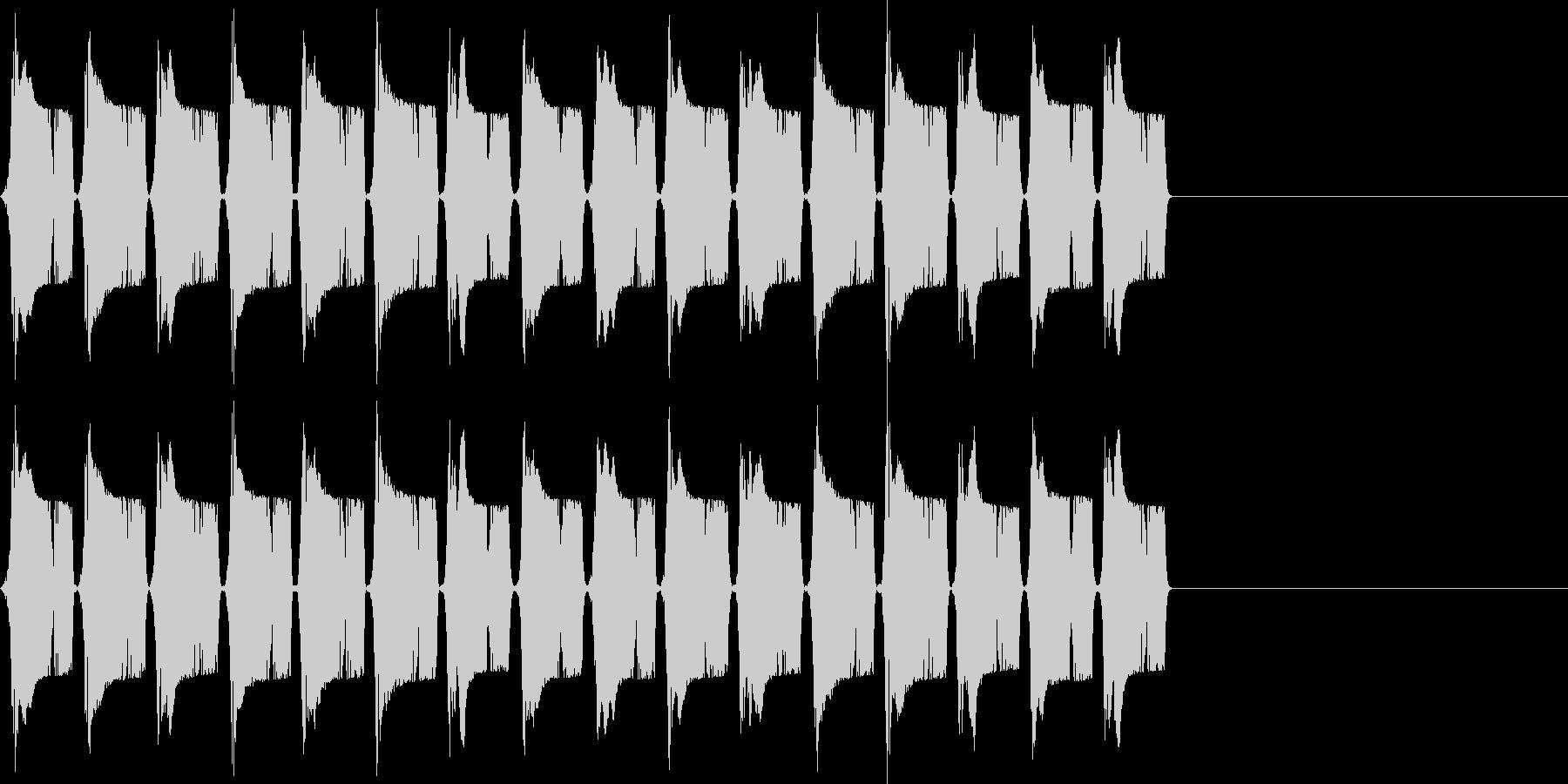 ピピピ..。冷汗・震える音D(高・長)の未再生の波形
