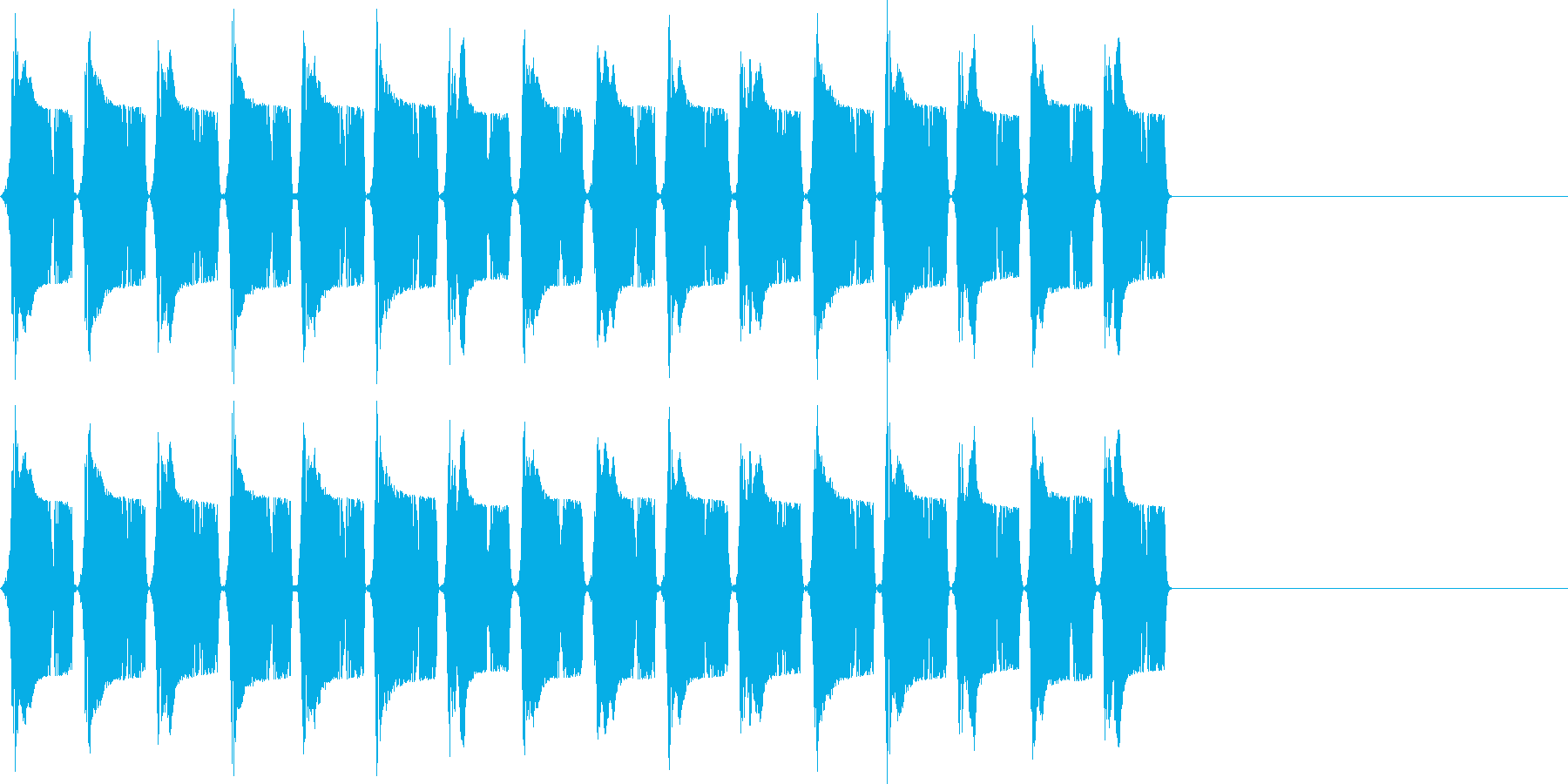 ピピピ..。冷汗・震える音D(高・長)の再生済みの波形