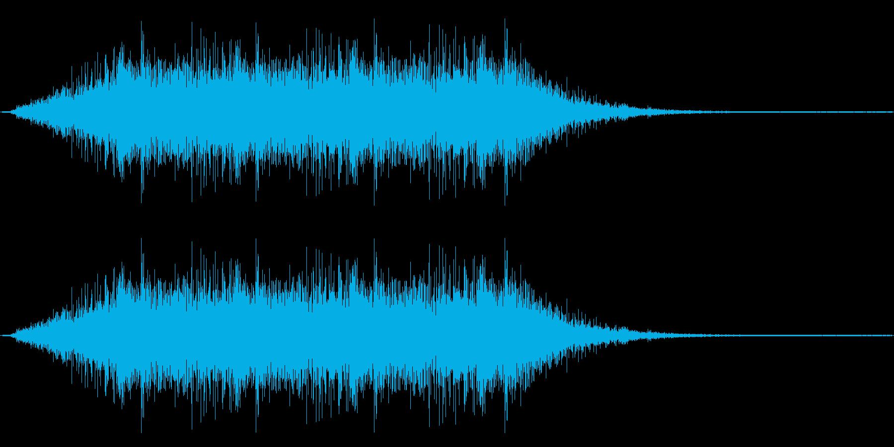機械系の短い効果音です。の再生済みの波形