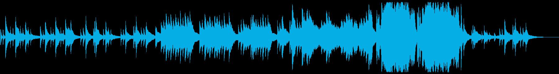 和を意識したピアノとストリングスの曲の再生済みの波形