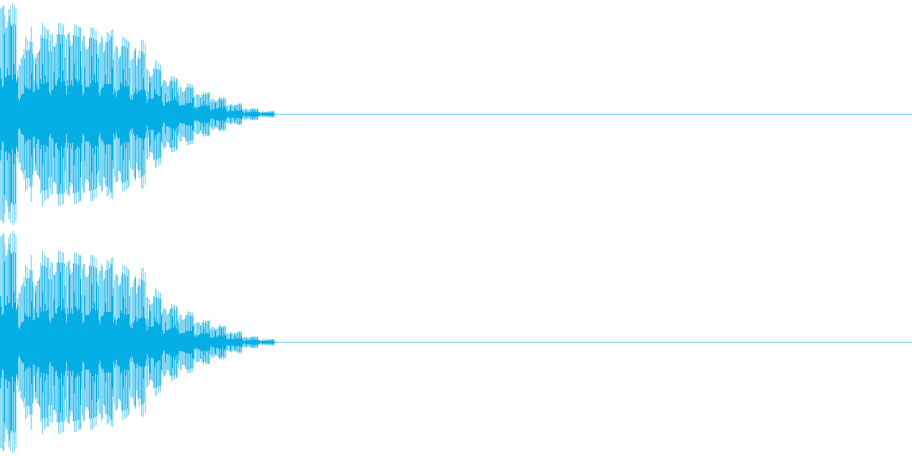 ピィィンの再生済みの波形