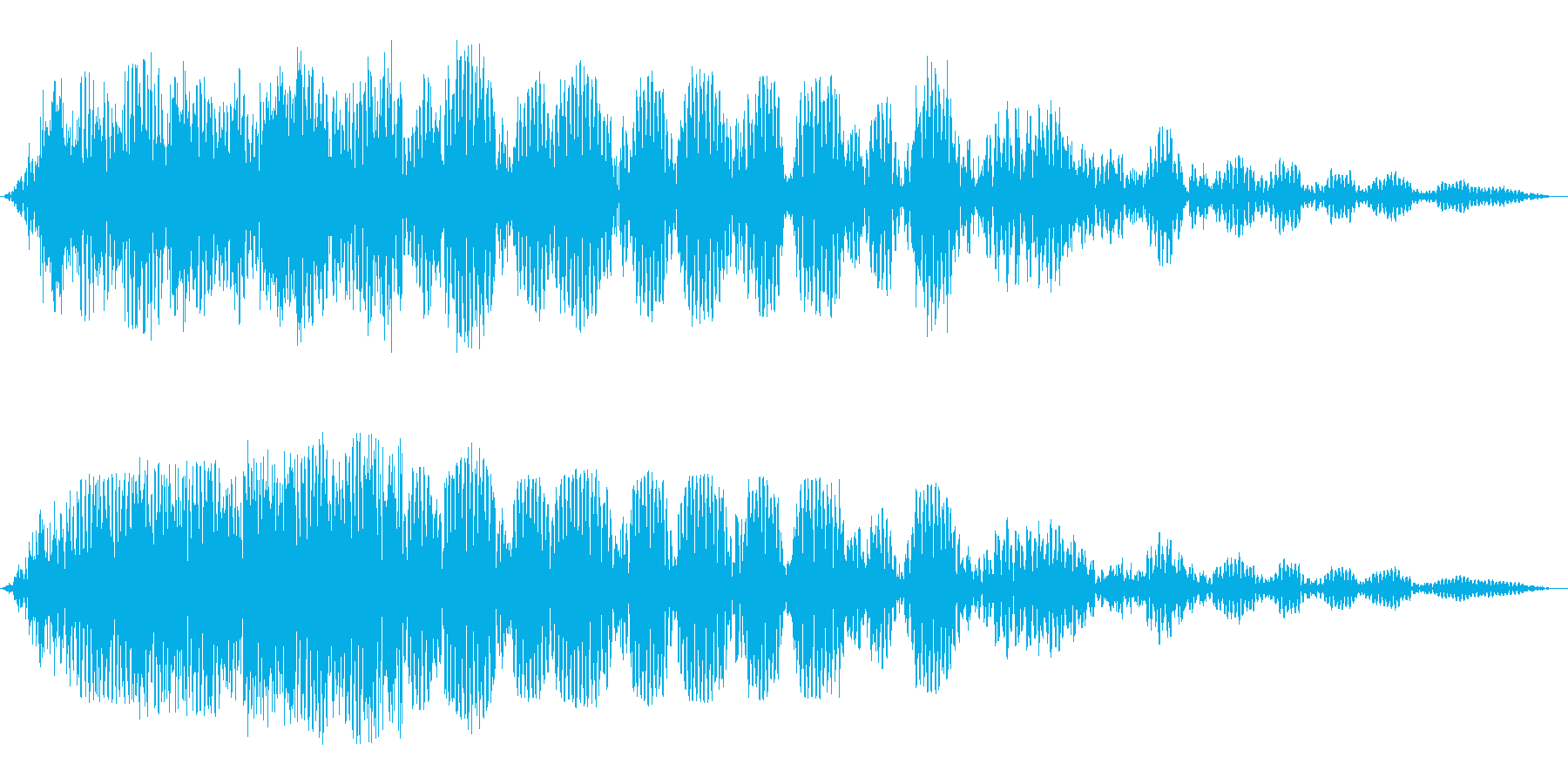 ふわふわ(低音の不気味な効果音)の再生済みの波形