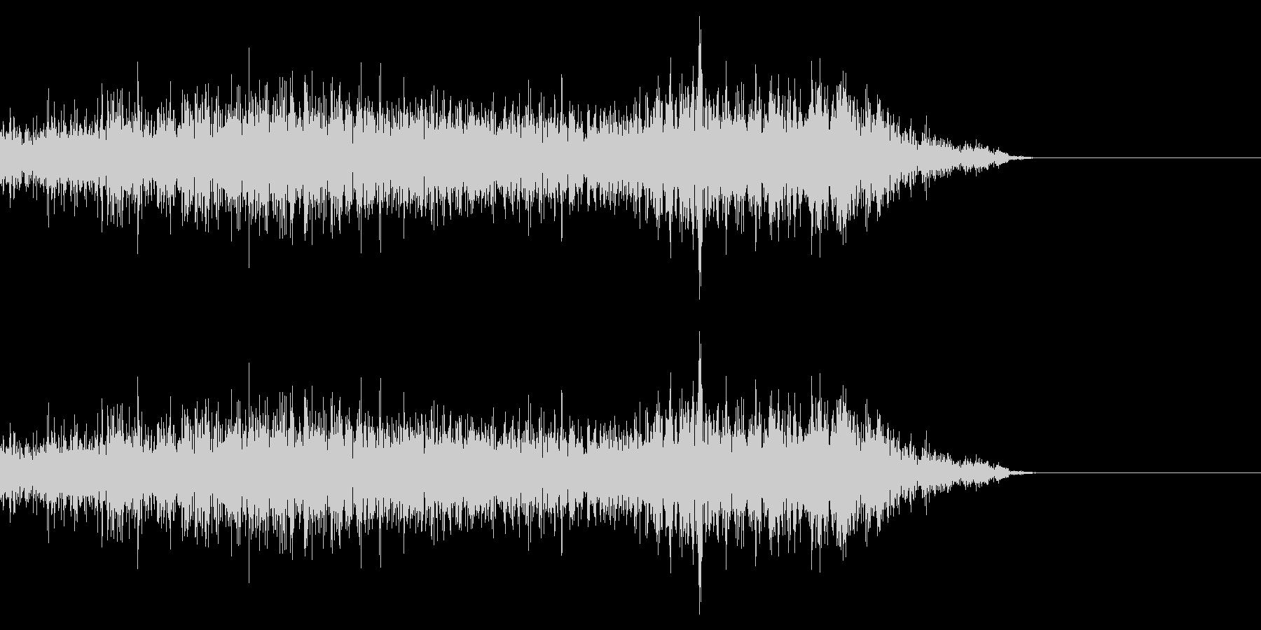 若干SFじみた音 高音域が目立つの未再生の波形