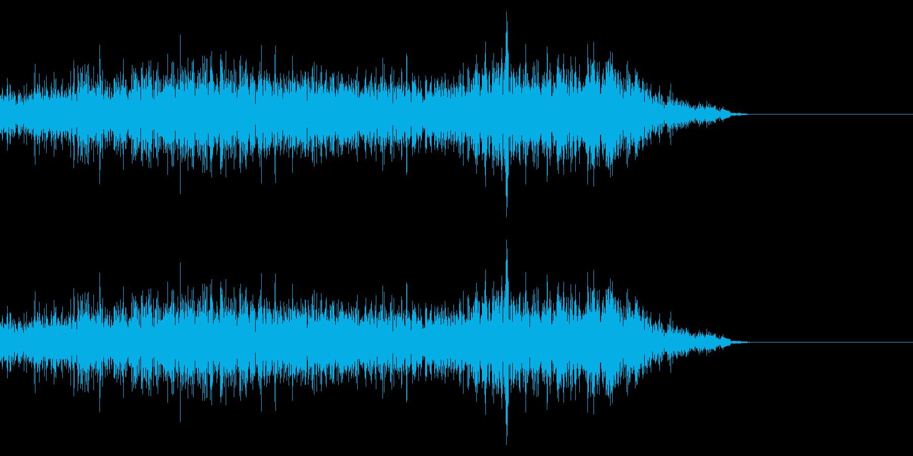 若干SFじみた音 高音域が目立つの再生済みの波形