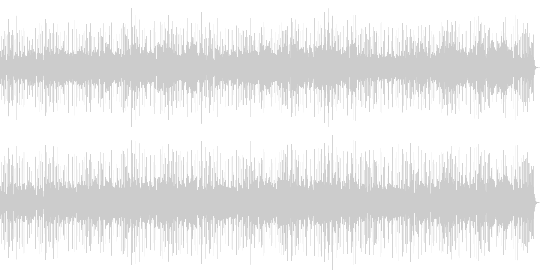 シンプルなFunky Popの未再生の波形