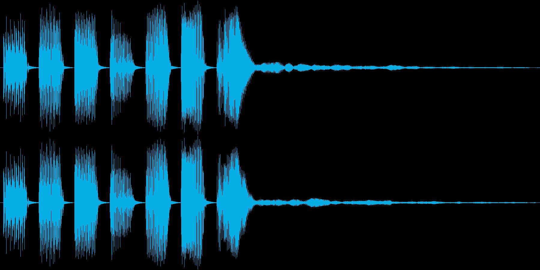 【クイズ】キレの良い出題音2(残響付)の再生済みの波形