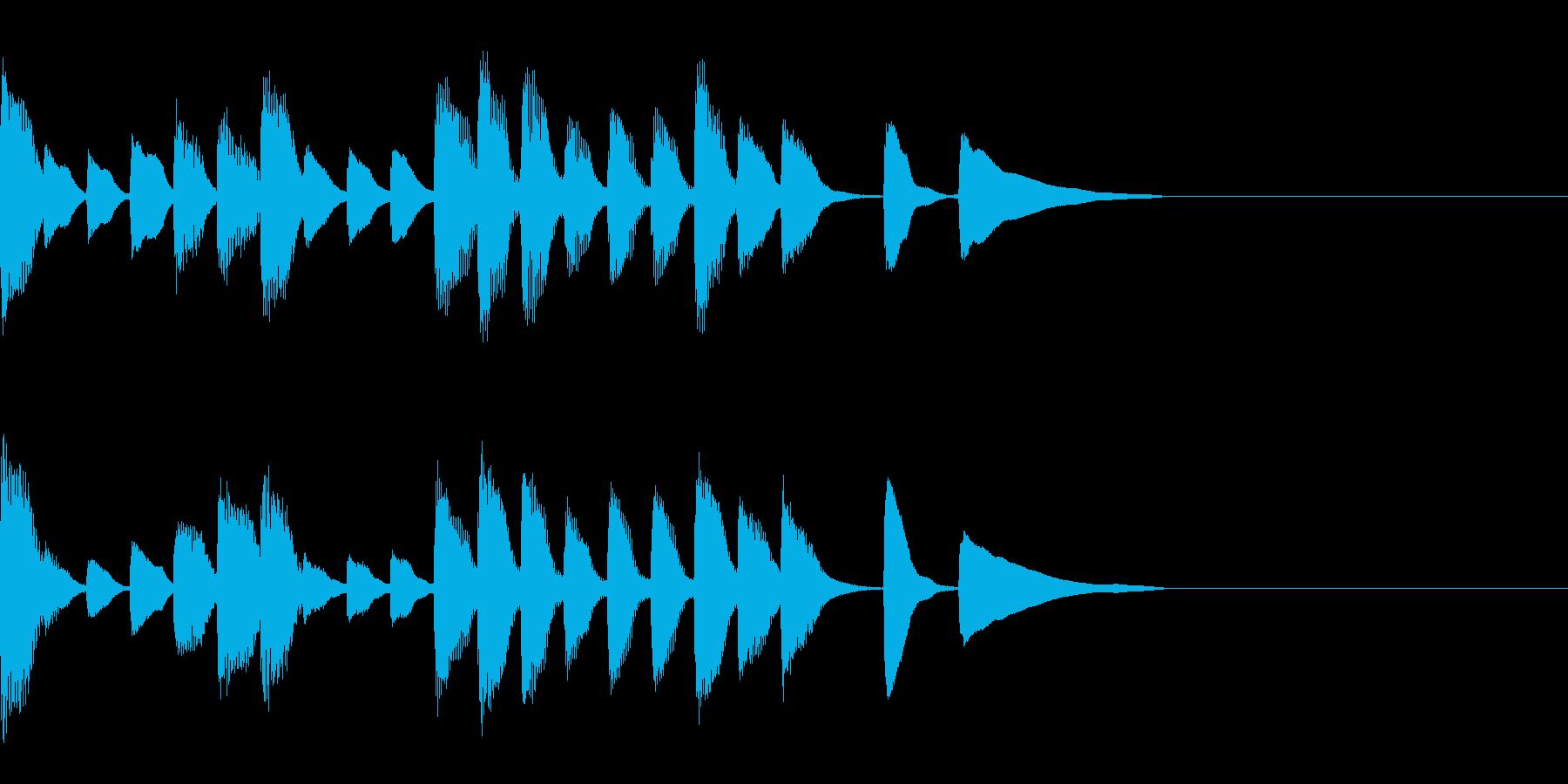 10秒以下のジングルの再生済みの波形