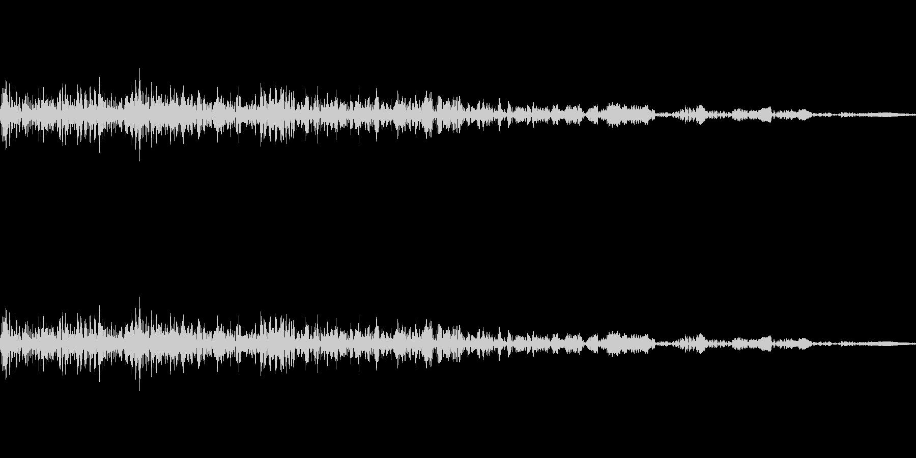 キャンセルボタン(ビュッ)の未再生の波形