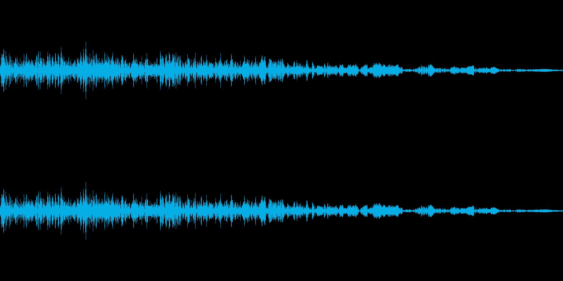 キャンセルボタン(ビュッ)の再生済みの波形
