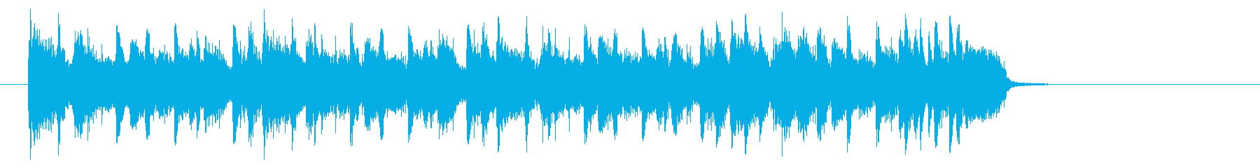 シンプルで緩やかなエレキジングルの再生済みの波形