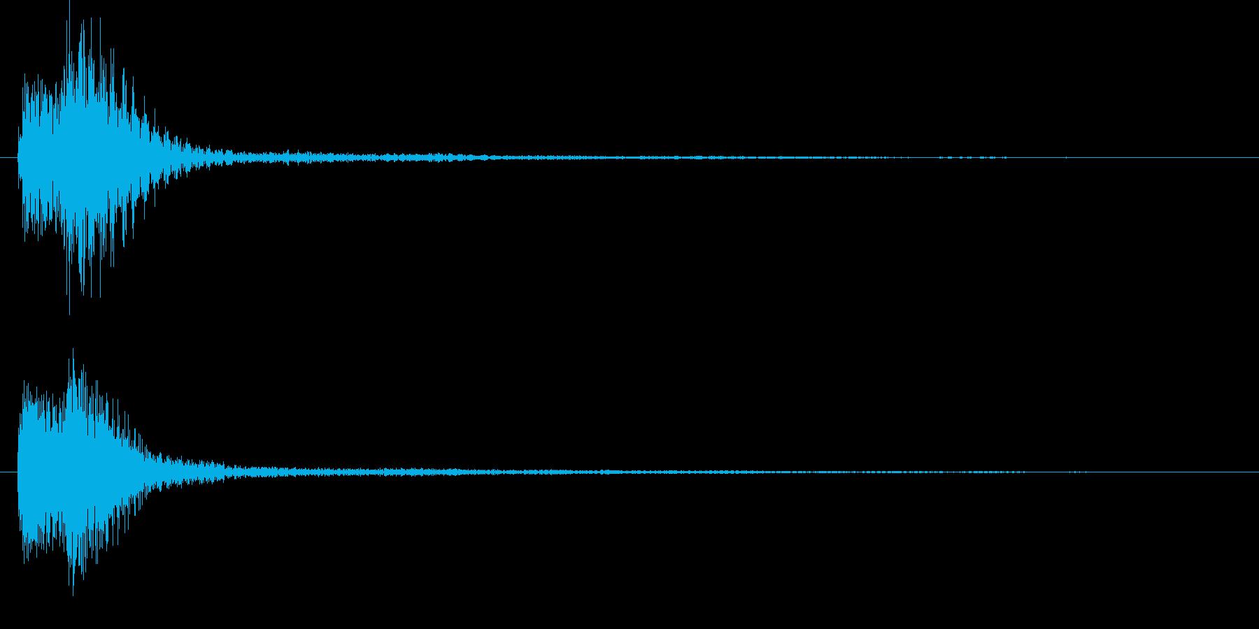 ピアノによるクリック音/スタッカート気味の再生済みの波形