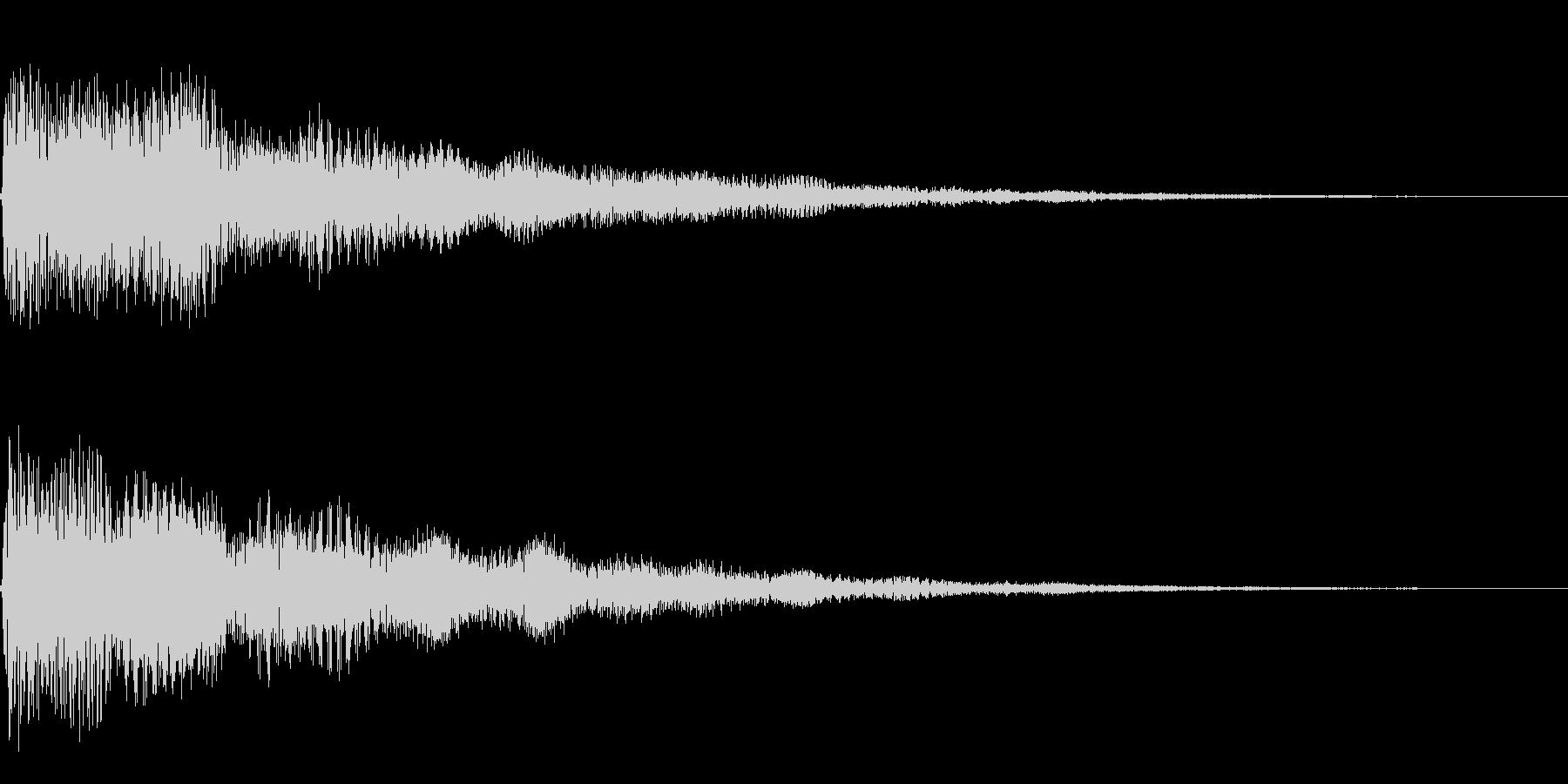 ベル、鐘(ガーン、ゴーン)の未再生の波形